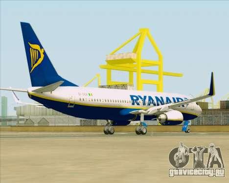 Boeing 737-8AS Ryanair для GTA San Andreas вид справа