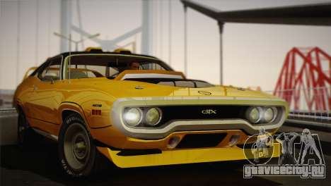 Plymouth GTX Tuned 1972 v2.3 для GTA San Andreas