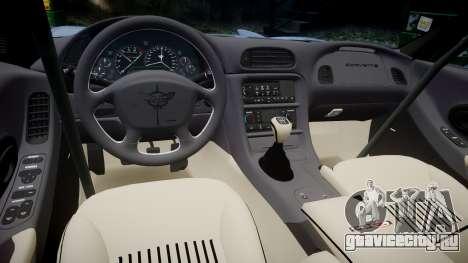 Chevrolet Corvette Z06 (C5) 2002 v2.0 для GTA 4 вид изнутри