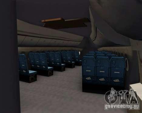 Boeing 747-8 Intercontinental United Airlines для GTA San Andreas двигатель