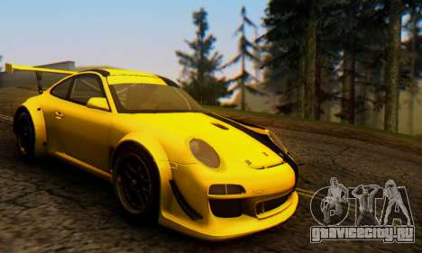 Porsche 911 GT3 R 2009 Black Yellow для GTA San Andreas