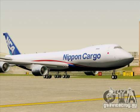 Boeing 747-8 Cargo Nippon Cargo Airlines для GTA San Andreas вид сзади