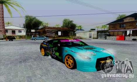 Nissan GT-R для GTA San Andreas вид сзади слева