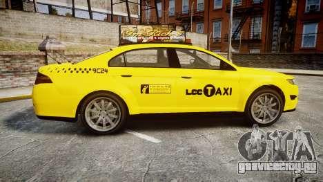 GTA V Vapid Taurus Taxi LCC для GTA 4 вид слева
