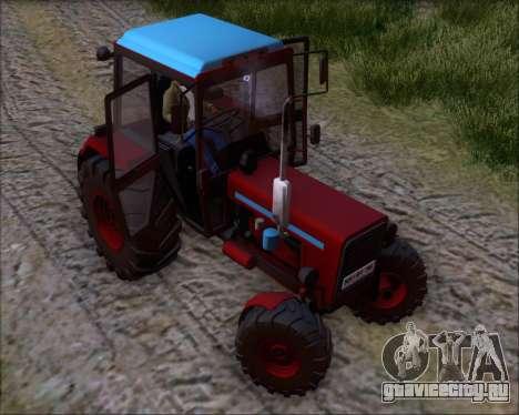 МТЗ-80 для GTA San Andreas вид снизу