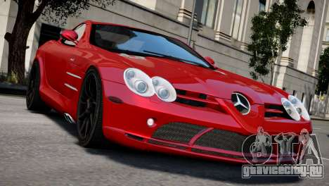 Mercedes SLR McLaren для GTA 4 вид справа