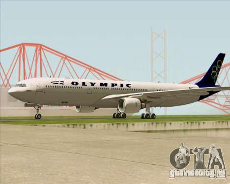 Airbus A330-300 Olympic Airlines для GTA San Andreas вид сбоку