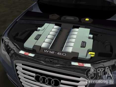 Audi A8 2010 W12 Rim3 для GTA Vice City вид снизу