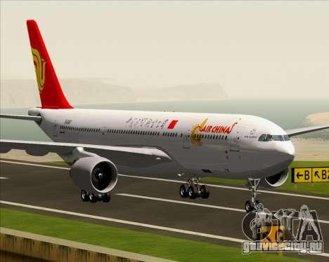 Airbus A330-200 Air China для GTA San Andreas вид снизу