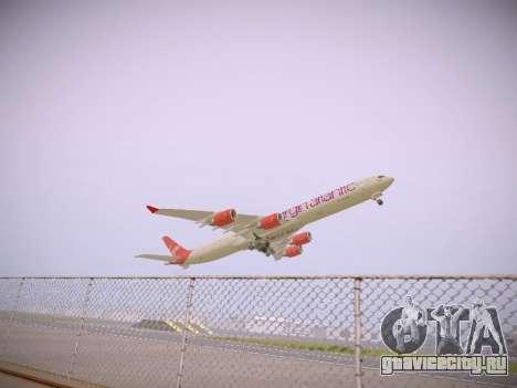 Airbus A340-600 Virgin Atlantic New Livery для GTA San Andreas вид сзади