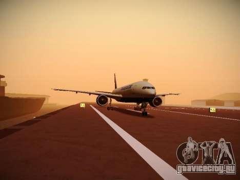 Boeing 777-212ER Transaero Airlines для GTA San Andreas вид сбоку