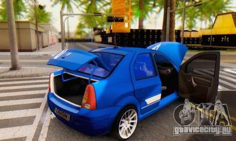 Dacia Logan Tuning Rally (B 48 CUP) для GTA San Andreas вид сверху
