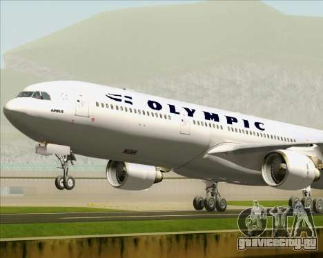 Airbus A330-300 Olympic Airlines для GTA San Andreas двигатель