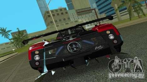 Pagani Zonda Cinque для GTA Vice City вид сзади
