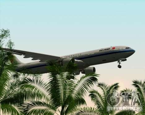 Airbus A330-300 Air China для GTA San Andreas вид снизу