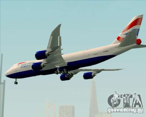 Boeing 747-8 Cargo British Airways World Cargo для GTA San Andreas колёса
