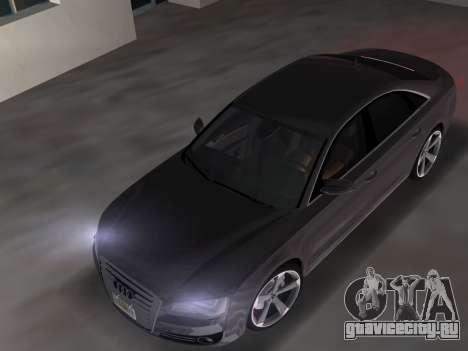 Audi A8 2010 W12 Rim3 для GTA Vice City вид справа