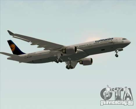 Airbus A330-300 Lufthansa для GTA San Andreas вид изнутри