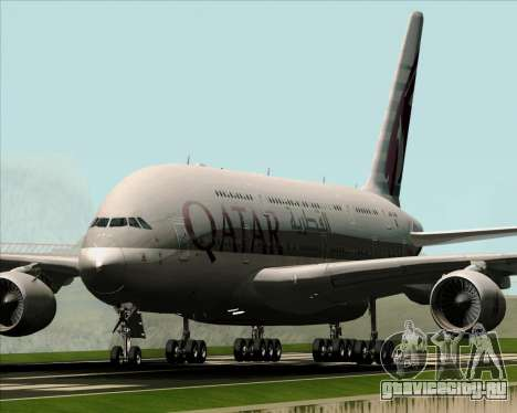 Airbus A380-861 Qatar Airways для GTA San Andreas вид слева
