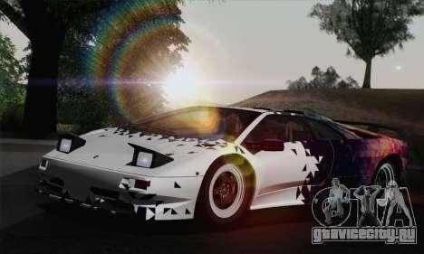 Lamborghini Diablo SV 1995 (HQLM) для GTA San Andreas колёса