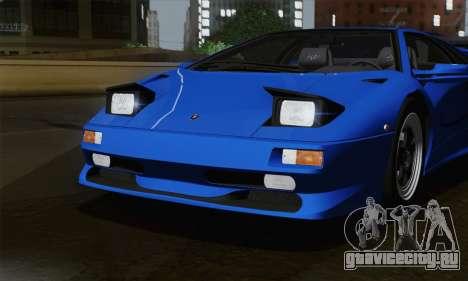 Lamborghini Diablo SV 1995 (ImVehFT) для GTA San Andreas вид сбоку