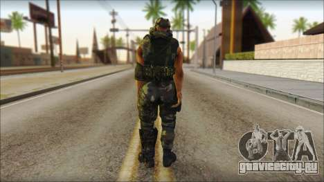 Claude Resurrection Skin from COD 5 v2 для GTA San Andreas второй скриншот