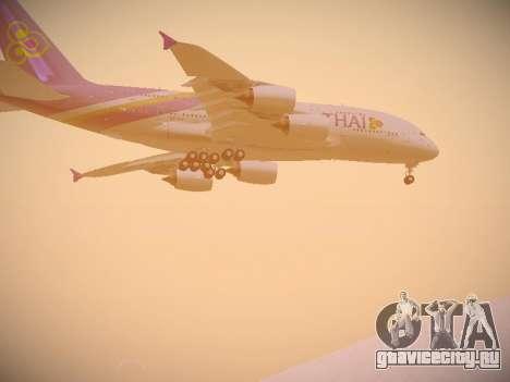 Airbus A380-800 Thai Airways International для GTA San Andreas вид изнутри