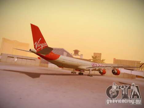 Airbus A340-600 Virgin Atlantic New Livery для GTA San Andreas вид справа