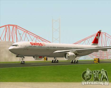 Airbus A330-300 Swiss International Air Lines для GTA San Andreas вид изнутри