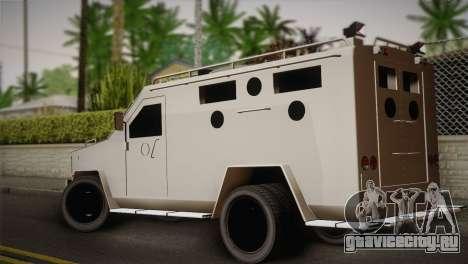 FBI Armored Vehicle v1.2 для GTA San Andreas вид слева
