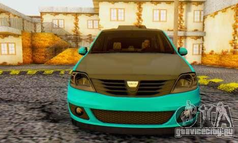 Dacia Logan Pearl Blue для GTA San Andreas вид слева
