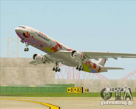 Airbus A330-300 Dragonair (20th Year Livery) для GTA San Andreas вид изнутри