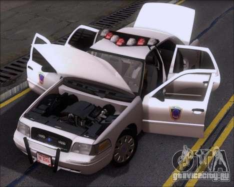 Ford Crown Victoria Tallmadge Battalion Chief 2 для GTA San Andreas вид сбоку