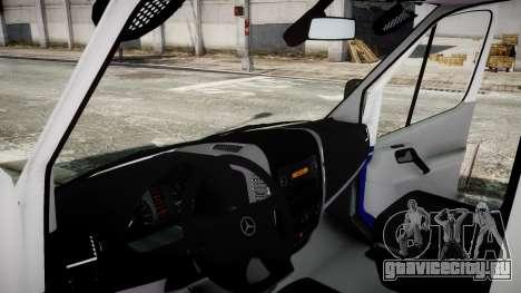 Mercedes-Benz Sprinter Police 2014 для GTA 4 вид сзади слева