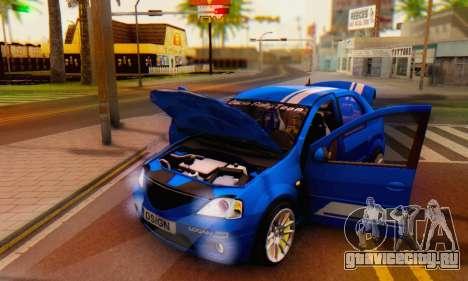 Dacia Logan Tuning Rally (B 48 CUP) для GTA San Andreas вид сбоку