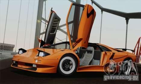 Lamborghini Diablo SV 1995 (HQLM) для GTA San Andreas вид сзади слева