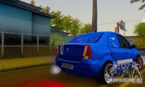 Dacia Logan Tuning Rally (B 48 CUP) для GTA San Andreas вид слева