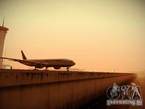 Boeing 777-212ER Transaero Airlines для GTA San Andreas вид изнутри