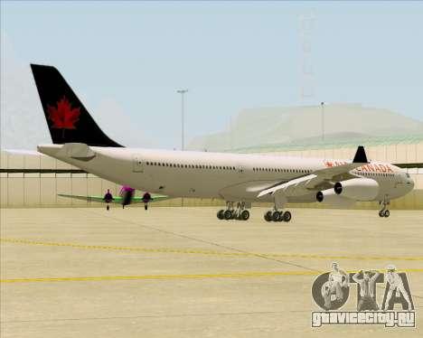 Airbus A340-313 Air Canada для GTA San Andreas вид справа