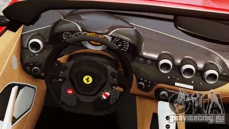 Ferrari F12 Roadster для GTA 4 вид сзади слева