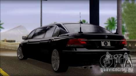BMW E66 7-Series Limousine для GTA San Andreas вид слева