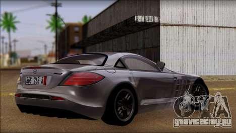 Mercedes-Benz SLR 722 для GTA San Andreas вид слева