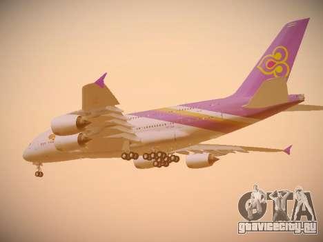 Airbus A380-800 Thai Airways International для GTA San Andreas вид сзади