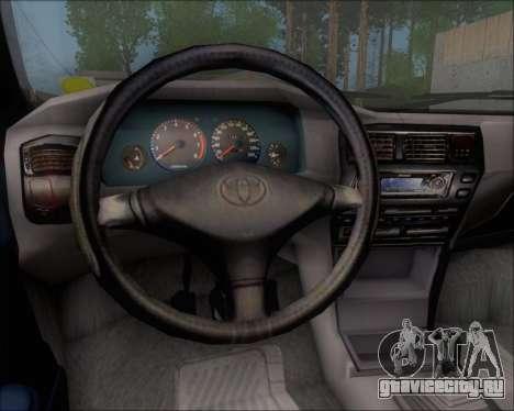 Toyota Corolla 1.6 для GTA San Andreas вид изнутри