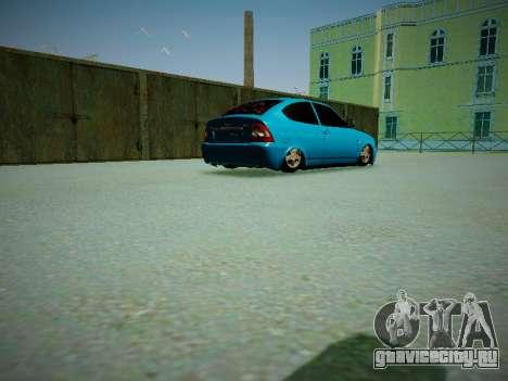Lada Priora Coupe для GTA San Andreas вид изнутри