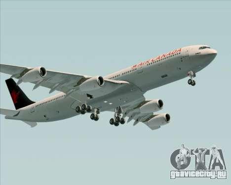 Airbus A340-313 Air Canada для GTA San Andreas вид сзади
