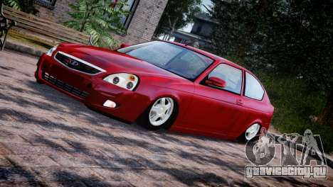 Lada Priora Coupe для GTA 4 вид сбоку