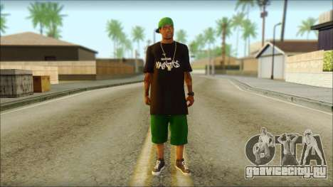 New Grove Street Family Skin v3 для GTA San Andreas