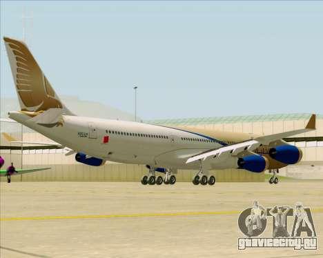 Airbus A340-313 Gulf Air для GTA San Andreas вид сзади