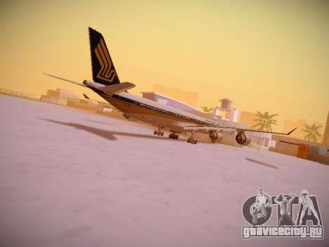 Airbus A340-600 Singapore Airlines для GTA San Andreas салон